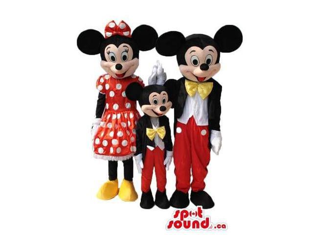 Mickey, Small Mickey And Minnie Mouse Disney Character Canadian SpotSound Mascots