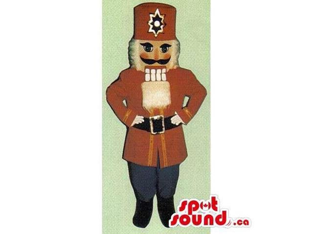 Nut-Cracker Soldier Canadian SpotSound Mascot Dressed In Special Clothes