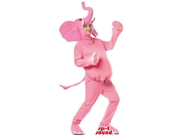 All Pink Elephant Adult Size Plush Costume Or Canadian SpotSound Mascot
