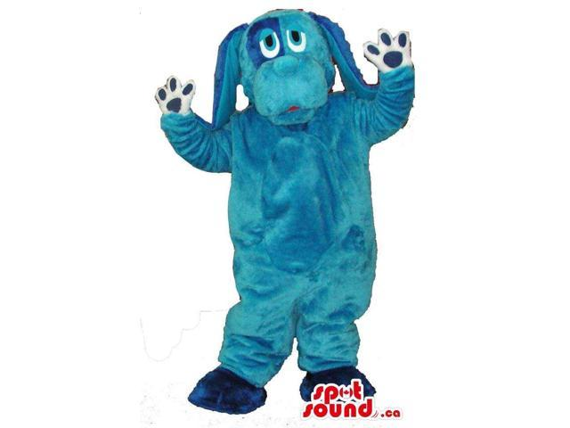 Blue Dog Plush Canadian SpotSound Mascot With Long Ears And A Loose Body