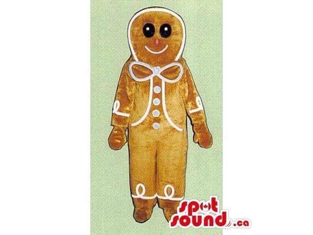 Light Brown Ginger-Bread Man Cake Food Christmas Canadian SpotSound Mascot