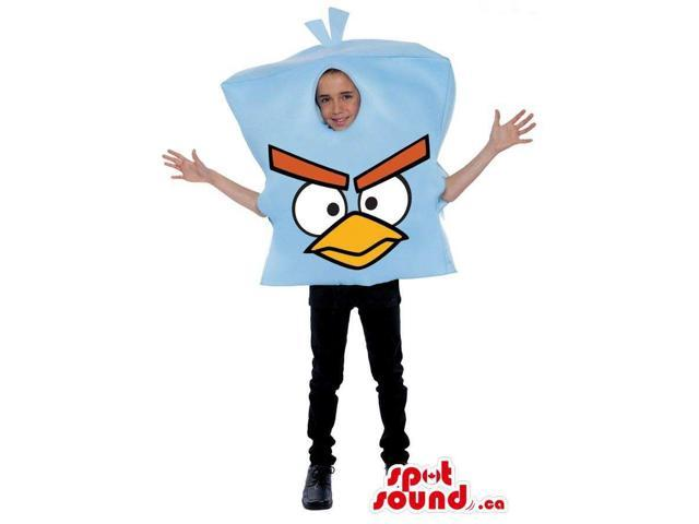Cute Blue Angry Birds Character Children Size Costume