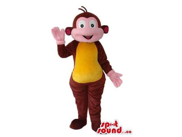 Brown Monkey Animal Canadian SpotSound Mascot From Dora The Explorer Cartoon