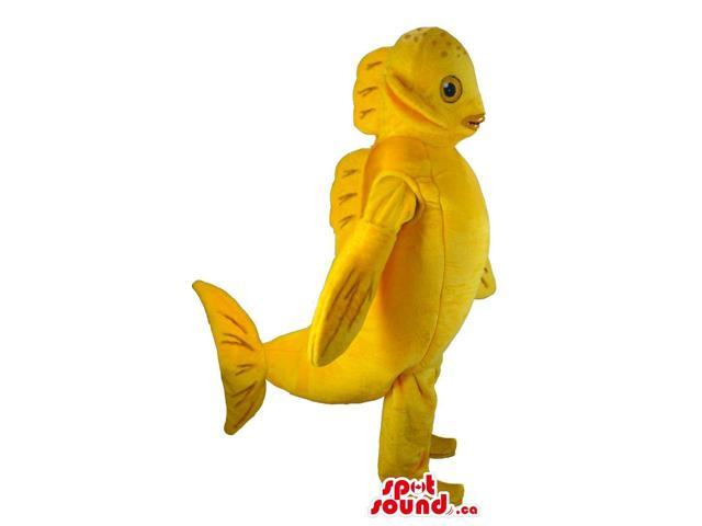 Customised Yellow Fish Plush Canadian SpotSound Mascot With A Large Tail