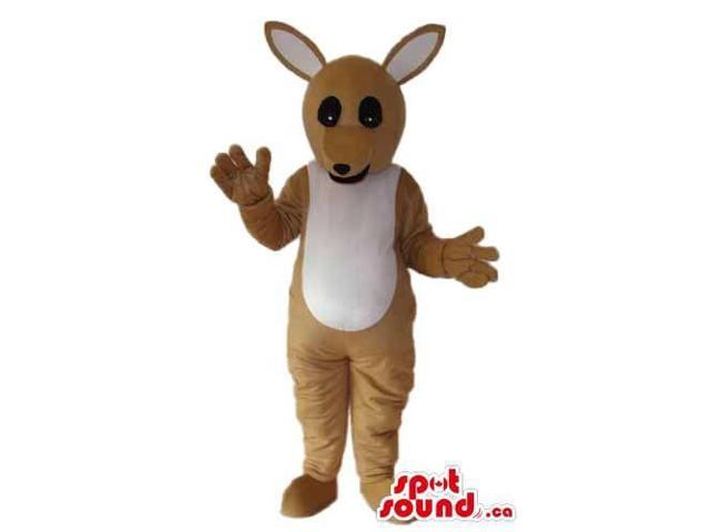 Cute Beige And Brown Kangaroo Plush Animal Canadian SpotSound Mascot