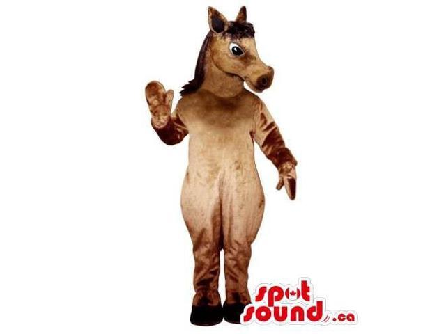 Customised All Brown Cute Plush Donkey Animal Canadian SpotSound Mascot