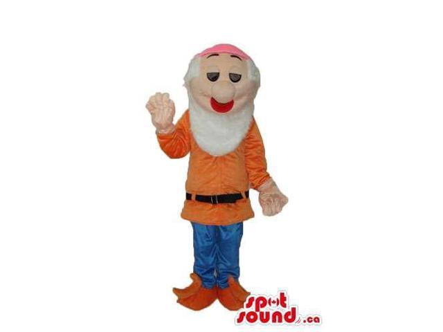 Snow White And The Seven Dwarfs Canadian SpotSound Mascot In Orange Gear