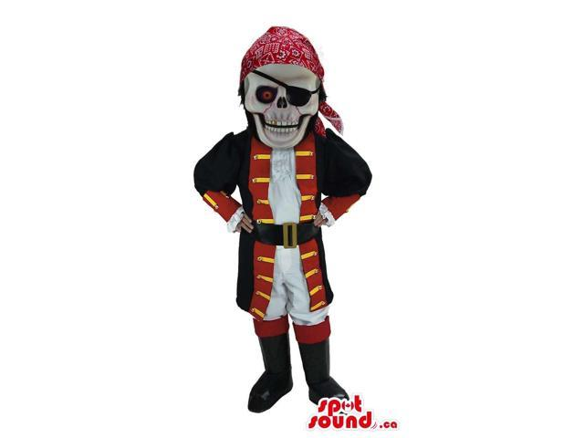 Scary Halloween Skeleton Dead Pirate Character Canadian SpotSound Mascot