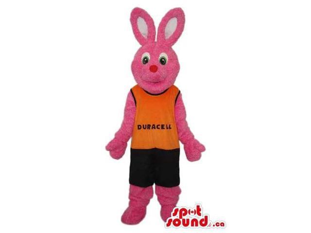 Customised Well-Known Pink Rabbit Duracell Battery Canadian SpotSound Mascot