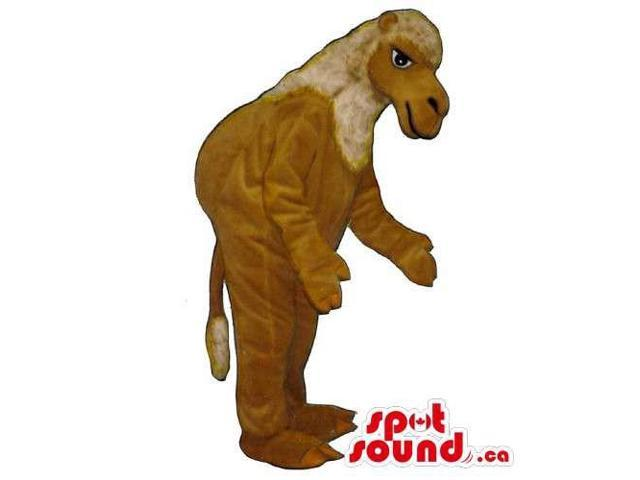 Brown Dromedary African Animal Canadian SpotSound Mascot With A Hump On All-Fours