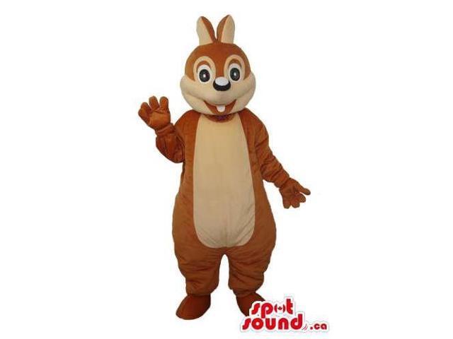 Cartoon Cute Brown Chipmunk Or Squirrel Plush Canadian SpotSound Mascot