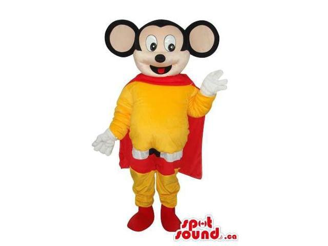 Cute Well-Known Mighty Mouse Cartoon Character Super Hero Canadian SpotSound Mascot
