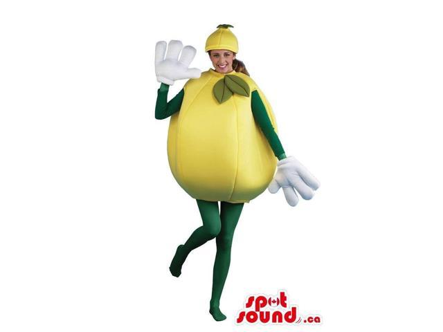 Cool Large Lemon Fruit Adult Size Costume Or Canadian SpotSound Mascot