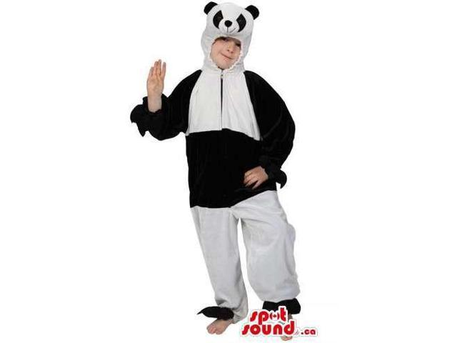 Customised Large Panda Bear Children Size Costume With Small Head