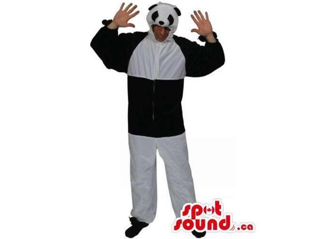 Customised Large Panda Bear Adult Size Costume With Small Head