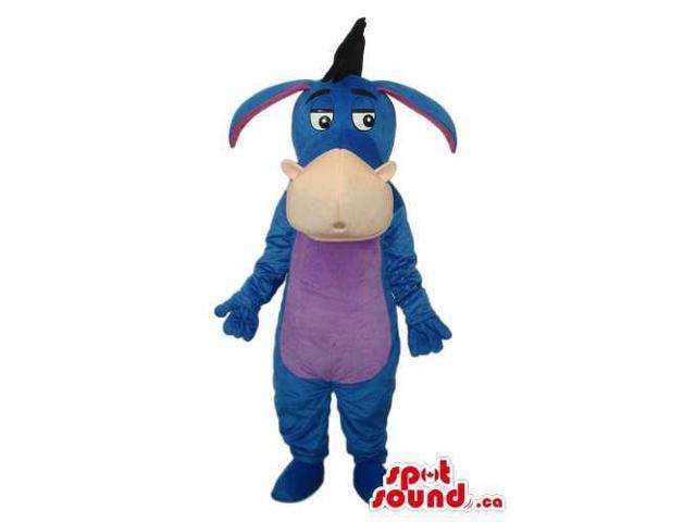 Winnie The Pooh Blue Donkey Cartoon Character Canadian SpotSound Mascot