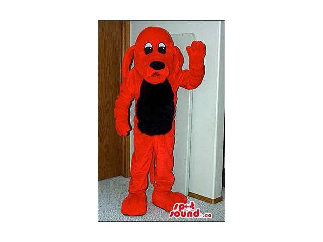 Red Dog Pet Animal Plush Canadian SpotSound Mascot With A Black Belly