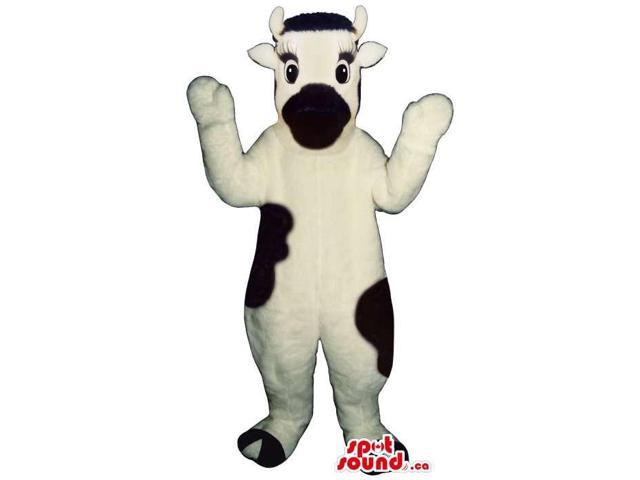 Cute Milk Cow Animal Plush Canadian SpotSound Mascot With A Black Mouth