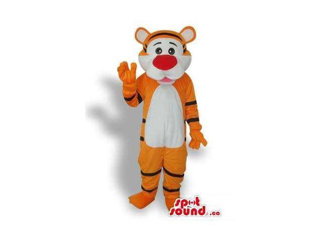 Cute Cartoon Orange And White Tiger Animal Plush Canadian SpotSound Mascot