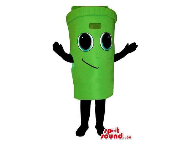 Cute Green Trash Can Or Recycling Box Plush Canadian SpotSound Mascot