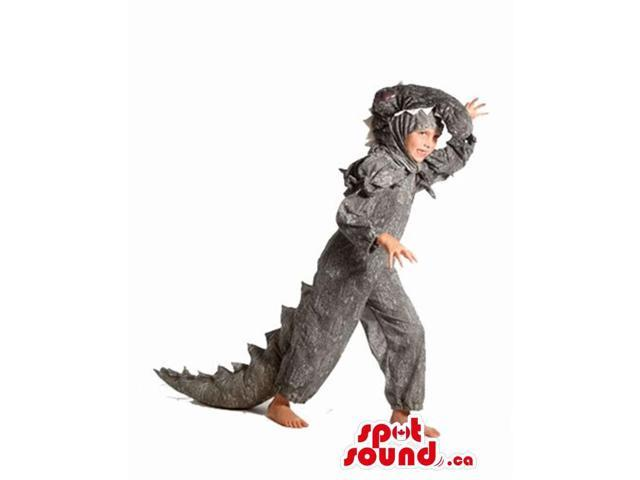 Great Cool Grey Dragon Plush Children Size Costume