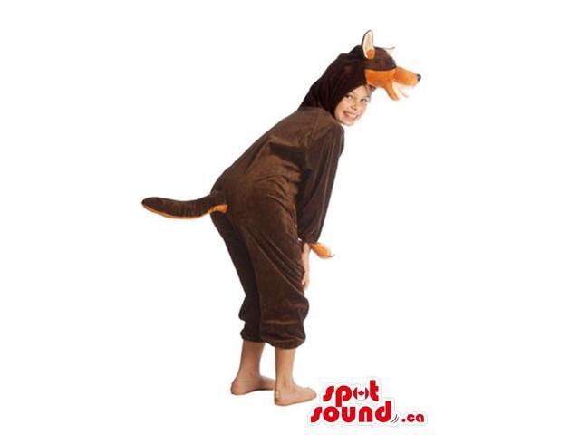 Real-Looking Brown Doberman Dog Children Size Costume