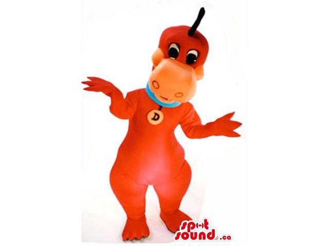 The Flintstone'S Cartoon Character Dinosaur Plush Canadian SpotSound Mascot