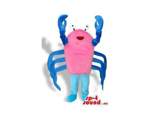 Customised Pink And Blue Crab Sea Animal Plush Canadian SpotSound Mascot