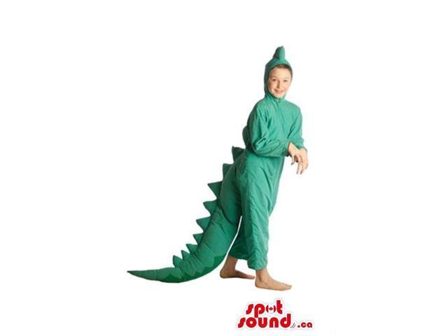 Cute All Green Dinosaur Plush Children Size Costume