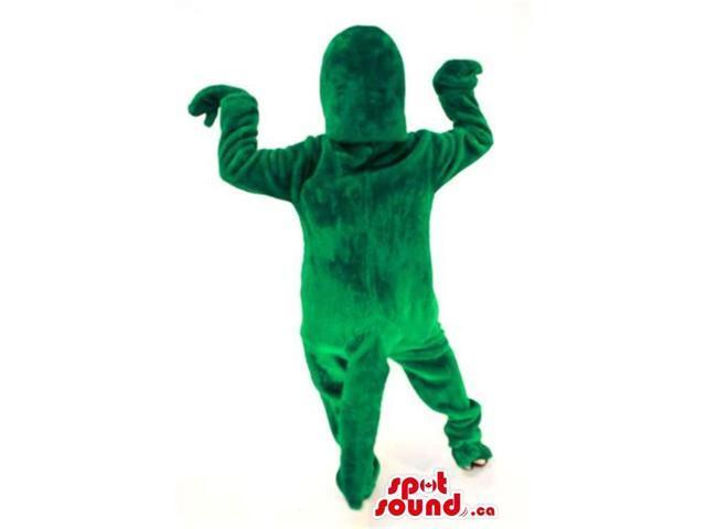 Cute Customised Large All Green Dinosaur Plush Canadian SpotSound Mascot