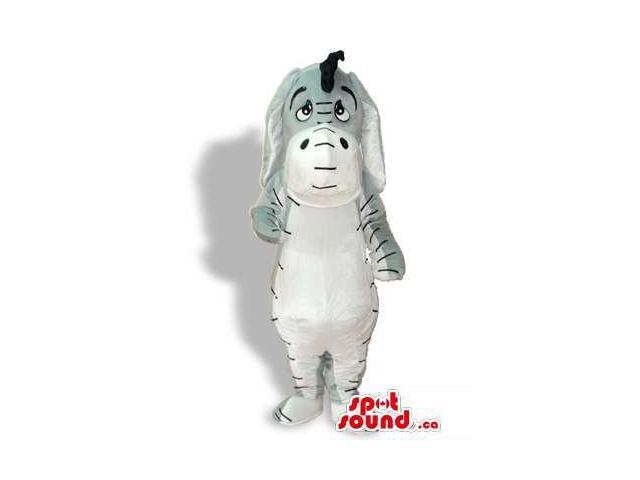 Cute Winnie The Pooh Donkey Cartoon Character Canadian SpotSound Mascot