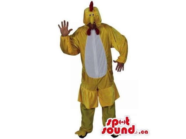 Yellow And White Hen Chicken Plush Canadian SpotSound Mascot Or Adult Size Costume