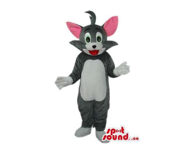Tom Grey Cat Canadian SpotSound Mascot From It Tom And Jerry Cartoon Series