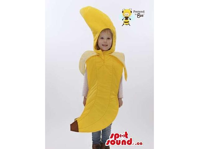 Peculiar Yellow Banana Fruit Plush Children Size Costume