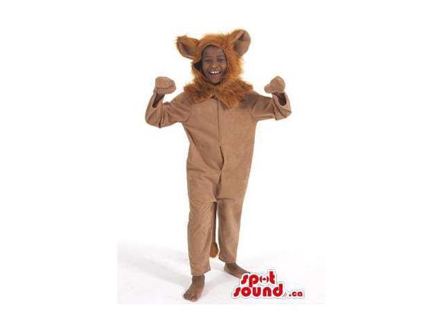 Peculiar Brown Lion Animal Plush Children Size Costume