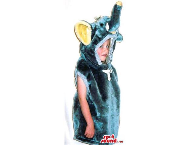 Green And Yellow Elephant Children Size Costume