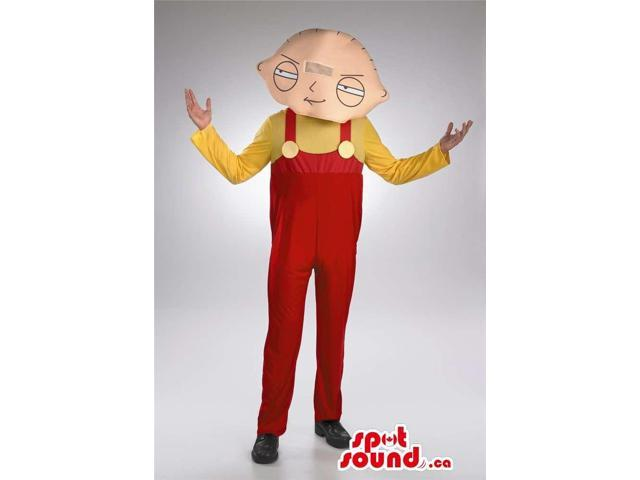 Stewie Griffin Family Guy Cartoon Character Costume Or Canadian SpotSound Mascot