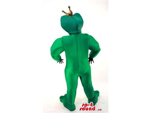 Green Shinny Hunter Frog Adult Size Costume With An Arrow