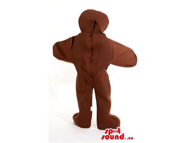 Ginger Bread Man Cake Plush Canadian SpotSound Mascot With Red Buttons