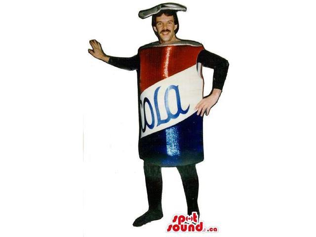 Great Cola Can Shinny Canadian SpotSound Mascot Or Adult Size Costume