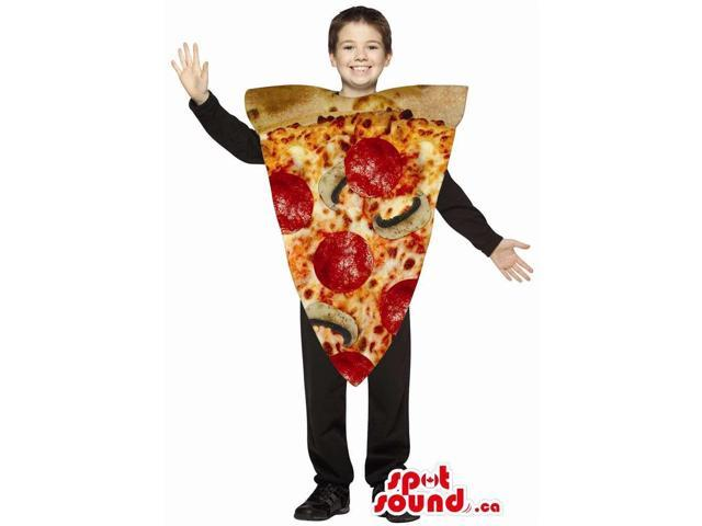 Cool Large Pepperoni And Mushroom Pizza Slice Children Size Costume