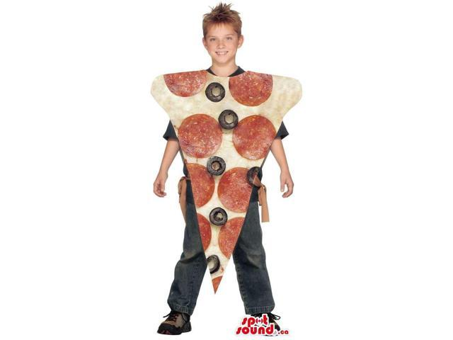 Cool Large Pepperoni Pizza Slice Children Size Costume