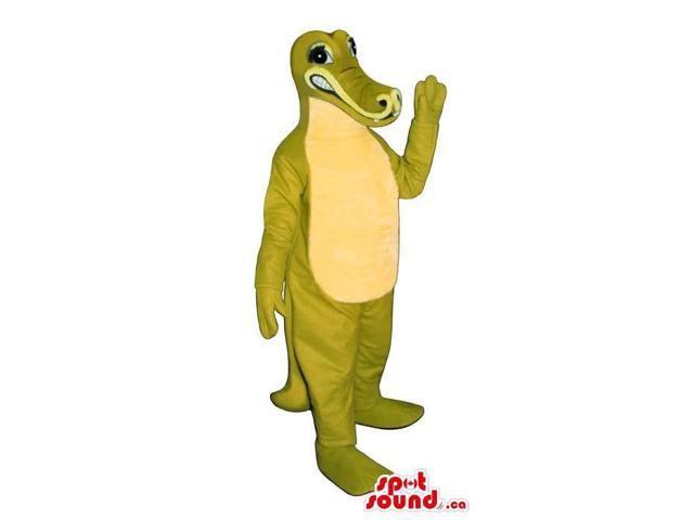 Green And Yellow Crocodile Jungle Animal Plush Canadian SpotSound Mascot