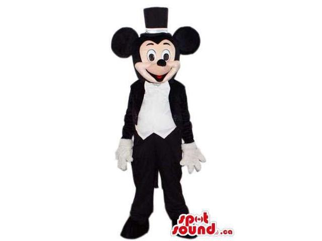 Mickey Mouse Cartoon Character Canadian SpotSound Mascot With Elegant Gear