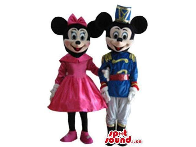 Mickey Mouse Cartoon Character Canadian SpotSound Mascot With Prince Gear