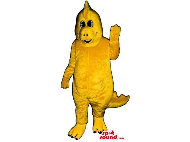 Customised Yellow Dinosaur Plush Canadian SpotSound Mascot With Comb
