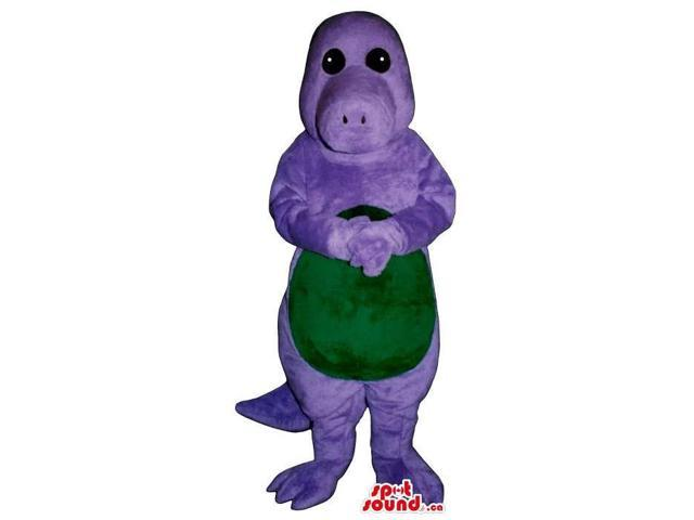 Customised Purple Hippopotamus Plush Canadian SpotSound Mascot With Green Belly