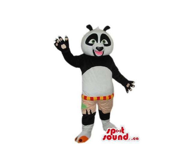 Kung Fu Panda Movie Character Plush Canadian SpotSound Mascot With Open Pink Mouth