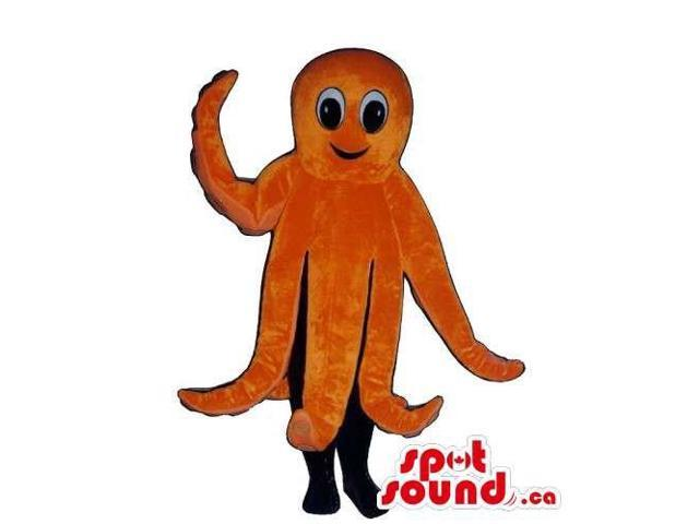 Customised All Orange Plush Octopus Sea Animal Canadian SpotSound Mascot