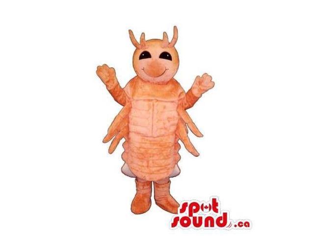 Customised All Orange Plush Shrimp Or Lobster Canadian SpotSound Mascot